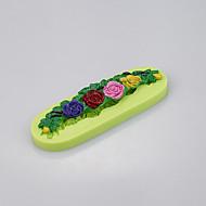 billige Bakeredskap-Blomst form fondant kake silikon mold for mold rundt kantene fargen tilfeldig