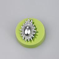 cheap Bakeware-Elegant jewelry ellipse shaped soft silicone molds wholesale cake cutter cake decoration Color Random