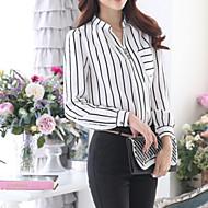 Veći konfekcijski brojevi Bluza Žene Formalan Vikend Prugasti uzorak Kragna košulje