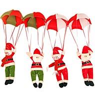 lumiukko koriste ornamentti sisustus laskuvarjo joulupukki nukke riipus joulua lelut