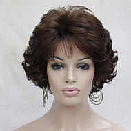 New Wavy Curly Auburn 31# Short Synthetic Hair Full Women's Thick  Wig For Everyday
