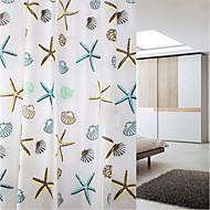 זול וילונות למקלחת-וילונות מקלחת מודרני PEVA מצחיק עשוי במכונה