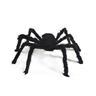 Aranha de pelúcia de 1pc para decoração de festas de fantasia de Halloween (cor aleatória)