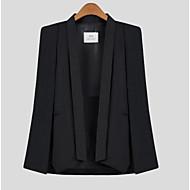 Dámské Jednobarevné Běžné/Denní Jednoduché Plášť / Capes-Podzim Polyester Šálové klopy Bez rukávů Růžová / Bílá / Černá Neprůhledné
