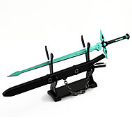 Arma / Espada Inspirado por Sword Art Online Kirito Anime Acessórios de Cosplay Espada Preto Liga Masculino / Feminino