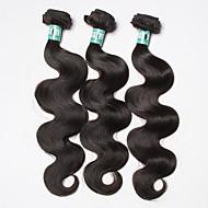 Emberi haj Brazil haj Az emberi haj sző Hullámos haj Póthajak 3 darab Fekete
