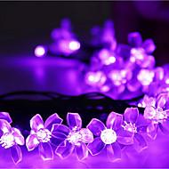 zonne-verlichting bloemblaadjes 23ft 50 led waterdichte zonne-licht string outdoor voor tuinen, bruiloft, boom
