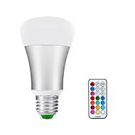 billige Globepærer med LED-900-1200lm E26 / E27 LED-globepærer A60(A19) 1 LED perler COB Infrarød sensor Mulighet for demping Varm hvit RGB 85-265V