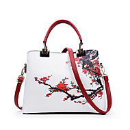 Women Bags All Seasons PU Tote for Event/Party Casual Formal Office & Career Black Red Blue Pink