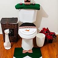 Qualität Flanell Sitzbezug& Teppich-Fuß-Pad Wassertank eingestellt Handtuch Abdeckung Bad se Weihnachtsmann Weihnachtszierde