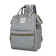 Women Bags Canvas Backpack Zipper for Casual Fall Gray