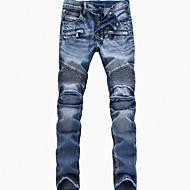 Herre Bomuld Tynd Jeans Bukser Ensfarvet