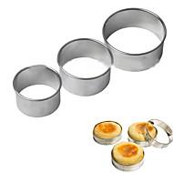 3pcsの卵のマフィンリングスタック準備金型カッター円形のクッキー型ステンレス鋼工具