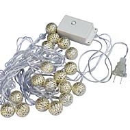 jiawen 20 led 5 m quente branco feriado decoração luz de corda (ac 110-220v)