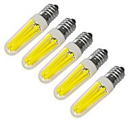 billige Stearinlyslamper med LED-JIAWEN 360 lm E14 LED-lysestakepærer 4 leds COB Dekorativ Varm hvit Kjølig hvit AC 220V AC 220-240V