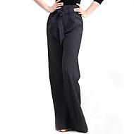 Latinské tance Spodní část oděvu Výkon Bavlna Šerpa / Stuha Jeden díl Kalhoty M:105cm-106cm L:106cm-107cm XL:107cm-108cm