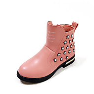 女の子用-ドレスシューズ カジュアル-PUレザー-フラットヒール-コンフォートシューズ-ブーツ-ブラック ピンク レッド