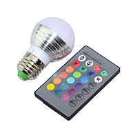 billige Globepærer med LED-e14 e26 / e27 led globe pærer g45 1 høy effekt led 250lm rgb rgb k dimbar fjernstyrt dekorative