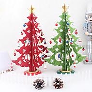 36cm criativas de madeira decorações da árvore de Natal tridimensional ornamento modelo de desktop
