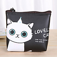 Cartoon Cat Pattern PU Leather Change Purse