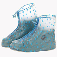Plasitc Printed Shoes Cover for Women High-heeled Rainy Day One Pair