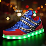 Para Meninos-Tênis-Inovador Light Up Shoes Conforto-Rasteiro-Preto Azul-Couro Ecológico-Ar-Livre Casual Para Esporte