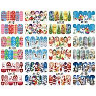 10 pcs 3D Negle Stickers Negle kunst Manicure Pedicure Mode Daglig / 3D Nail Stickers