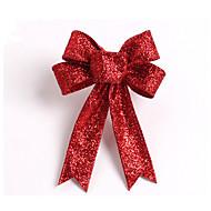 スパークリンググリッタークリスマスツリーの弓の装飾13センチメートル布5耳orament花はホームパーティーの結婚式の装飾のための結び目の弓