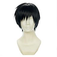 Durarara Orihara Izaya Black All-purpose Upturned Halloween Wig Synthetic Wig Costume Wigs