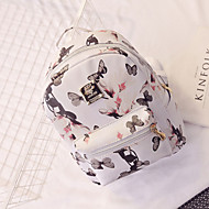 Women Bags PU Backpack for Casual All Seasons White Black Red Pink