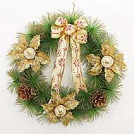 christmas seppele 3 väriä neulasia joulukoristeita kotiin osapuoli halkaisija 40cm navidad uusi vuosi tarvikkeita