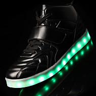 男性-アウトドア カジュアル アスレチック-レザー-ローヒール-コンフォートシューズ 靴を点灯-スニーカー-ブラック レッド ホワイト
