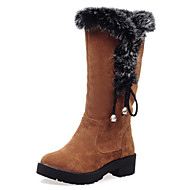 Women's Boots Fall / Winter  Fur / Fleece Party & Evening / Dress / Casual Platform Bowknot / Fur Black / Brown / Yellow