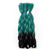 """צמות ג'מבו צמות שיער הוואנה צמות קרוקט צמות אומברה 100% ahgr קנקלון שחור / אפור שחור / אדום שחור / כחול שחור / סגול שחור / ירוק 24 """""""