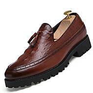 Homme Chaussures Similicuir Printemps Eté Automne Hiver Bottes à la Mode Confort Mocassins et Chaussons+D6148 Lacet Pour Décontracté Noir