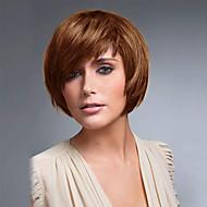penteado curto bob doce em linha reta com estrondo lado sem tampa perucas de cabelo humano de alta qualidade