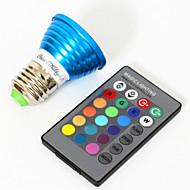 billige Spotlys med LED-YouOKLight 3W 200-250lm E26 / E27 LED-spotpærer MR16 1 LED perler Høyeffekts-LED Dekorativ RGB 85-265V