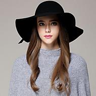 Women's Vintage Wool Bucket Hat - Solid Colored