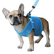 katten / honden harnassen / Lijnen Verstelbaar/Uitschuifbaar / Ademend / Veiligheid Effen Rood / Zwart / Blauw / Roze / Paars Netstof
