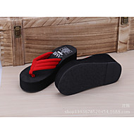 cheap Women's Slippers & Flip-Flops-Women's Shoes PVC Summer Slippers & Flip-Flops Platform for Casual Black Red