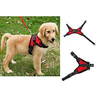 お買い得  犬用カラー/リード/ハーネス-犬 ハーネス 調整可能 / 引き込み式 ベスト ソリッド メッシュ ブラック パープル レッド ブルー