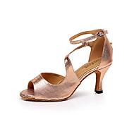 baratos Sapatilhas de Dança-Mulheres Sapatos de Dança Latina / Tênis de Dança / Sapatos de Salsa Couro Sandália Apliques Salto Agulha Personalizável Sapatos de Dança