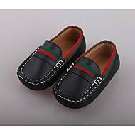Boys' Shoes PU Comfort Loafers & Slip-Ons For Casual White Black