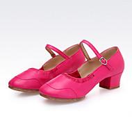 """billige Moderne sko-Dame Latin Jazz Dansesko Moderne Kunstlær Støvler Joggesko utendørs Trening Tykk hæl Svart Hvit Rød Rosa 2 """"- 2 3/4"""" Kan ikke"""