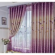 Kopça Deliği Üstü Kıvrımlı Kalem İki Panel Pencere Tedavi Modern , Kalpler Oturma Odası Polyester Malzeme Blackout Perdeler Perdeler Ev