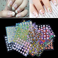 30 pcs 3D Negle Stickers Negle kunst Manicure Pedicure Mode Daglig / 3D Nail Stickers