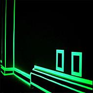 Grøn Fluorescens Mærkat Nat Lysende Tape Strimmel  Dekoration Til Trappe Dør Motorcykel Bil Lysende Bånd Reflekterende