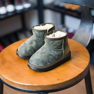 Para Meninos Bebê sapatos Pele Inverno Conforto Botas de Neve Botas Para Casual Preto Verde Tropa