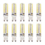 billige Bi-pin lamper med LED-10pcs 320-340lm G9 LED-lamper med G-sokkel T 64 LED perler SMD 2835 Mulighet for demping Vanntett Varm hvit Kjølig hvit