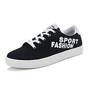 Muške Sneakers Udobne cipele spušten čizme PU Proljeće Jesen Kauzalni Vezanje Ravna potpetica Obala Crn Plava Ravne